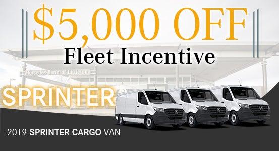 59b28ba81a FLEET Incentive  New 2019 Sprinter Cargo Vans