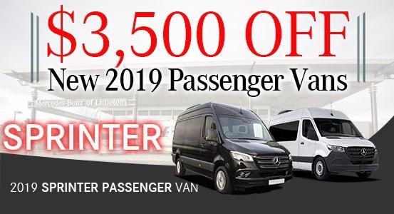 4a8ccbfea8 New 2019 Sprinter Passenger Vans